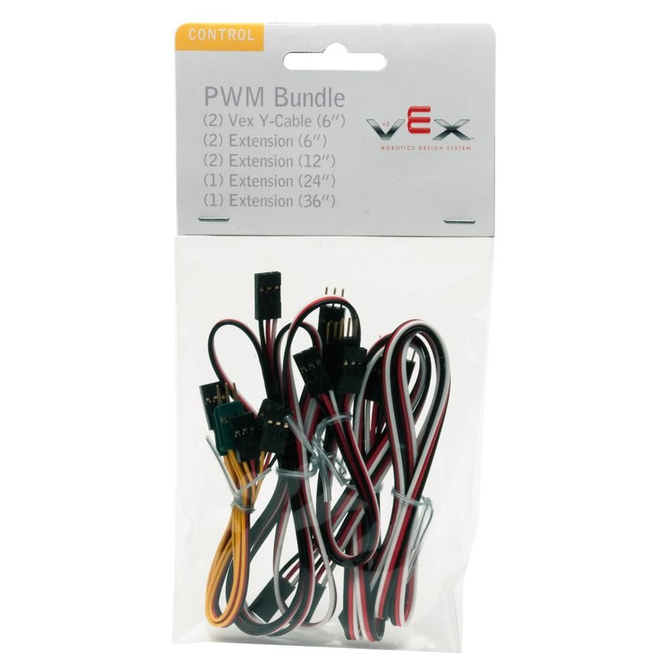 VEX 3-Wire Extension Cables (Large Bundle) - Motors and Gears - VEX EDR