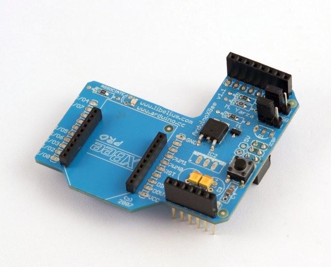 Xbee shield w o rf module arduino microcontrollers