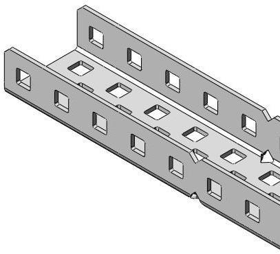 Vex Aluminum C Channel 1x2x1x25 6 Pack Structure Vex Edr