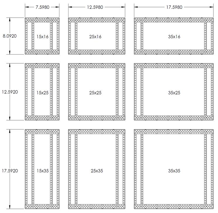 vex chassis kit large 35x35 structure vex edr. Black Bedroom Furniture Sets. Home Design Ideas