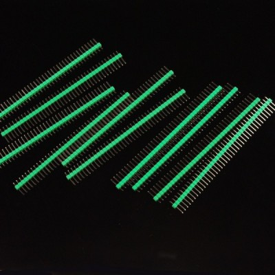 10 Pcs 40 Pin Headers - Straight (Green)