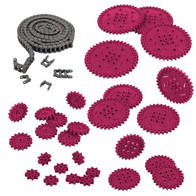 VEX IQ Chain & Sprocket Kit (Maroon)