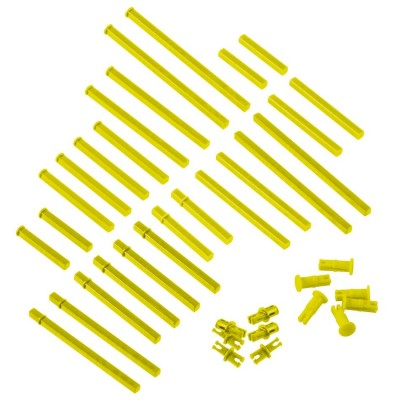 VEX IQ Plastic Shaft Base Pack (Yellow)