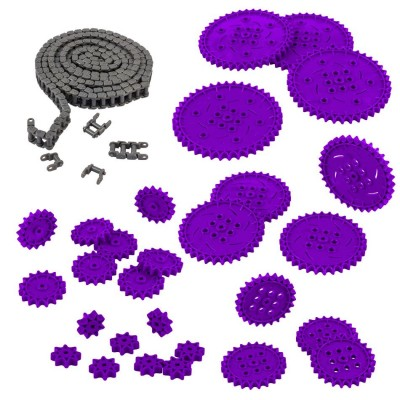 VEX IQ Chain & Sprocket Kit (Purple)