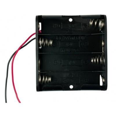 4xAA battery holder (square)