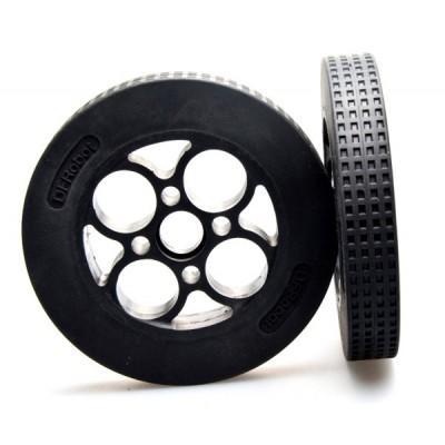 Rubber Wheel 136×24mm (Pair)