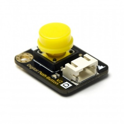 Digital Push Button - Yellow