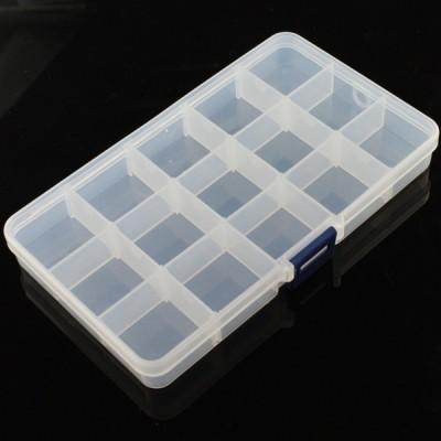 Adjustable Compartment Parts Box - 15 compartments