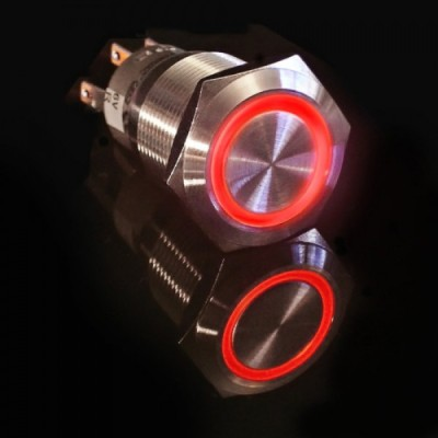 Metal illuminated pushbutton-Red Ring