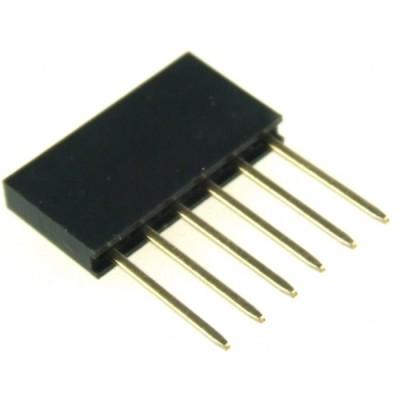 Stackable Header - 6 Pin