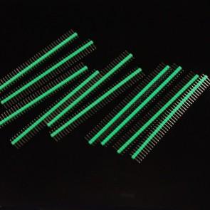 10 Pcs 40 Pin Headers - Straight (Green)