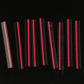 10 Pcs 40 Pin Headers - Straight (Red)