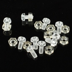 10 sets M3 * 6 clear nylon screws and nuts