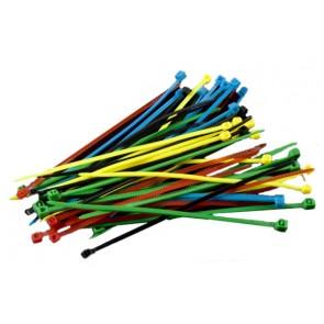 Nylon Cable Tie Set - Five Colors (50pcs)