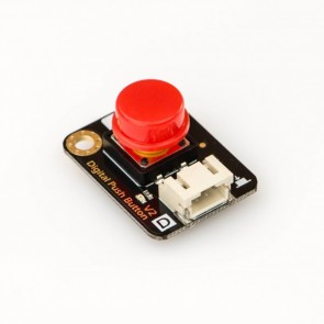 Digital Push Button - Red