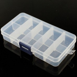 Adjustable Compartment Parts Box - 10 compartments