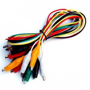 Alligator Clip Test Cables (10 PCs Pack)