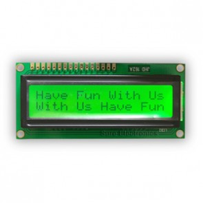 Basic 16x2 Character LCD - Black on Yellow 5V