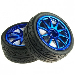 D65mm Rubber Wheel Pair - Blue