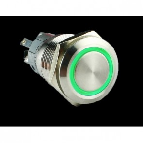 Metal illuminated pushbutton-Green Ring