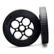 Rubber Wheel 136×24mm (Pair)