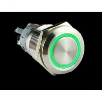 Metal illuminated pushbutton-Green Ring