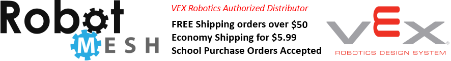 Robot Mesh are authorized distributors of VEX Robotics